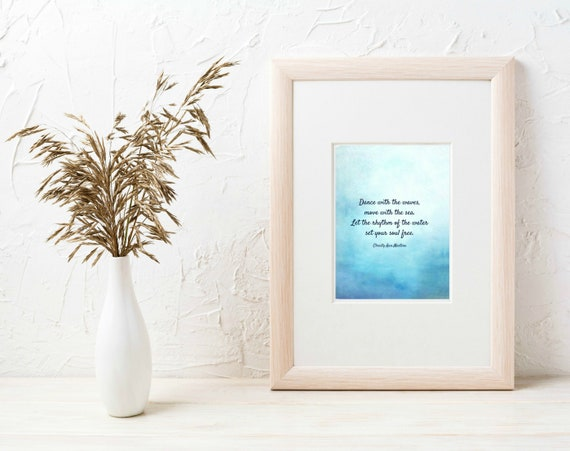 Dance with the Waves Ocean Print