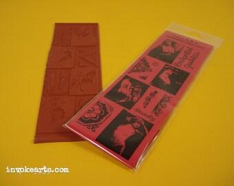 Enchanted Goddesses / Invoke Arts Collage Rubber Stamps / Unmounted Stamp Set