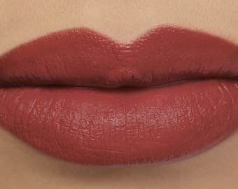 "Matte Lipstick - ""Sonnet"" (warm red vegan lipstick with organic ingredients)"
