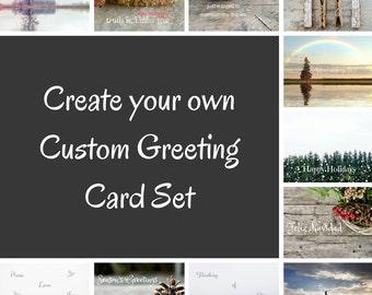 Photo Greeting Card Set, 4x5 inspirational cards, blank inside, travel inspiration life event encouragement, multiple cards, set of 5 sale