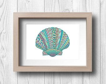 Clam Shell - Printable Wall Art