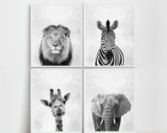 Safari Nursery Art Nursery  Safari Prints Safari Wall Art Nursery Safari Nursery Animals Zebra Print Elephant Print