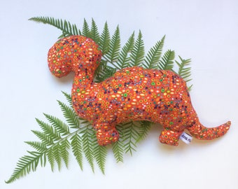 Dinosaur Toy- Red //Baby Toy// Cloth Toy// Cloth Doll// Baby Softie// Cuddly Toy// Baby Shower Gift// Gift for Toddler// Nursery Decor