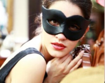 Black PU leather mask #MA17001