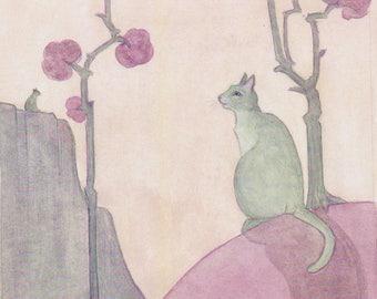 New Cat Art Print, Willow Creek
