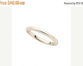 Mothers Day Sale 14 kt  Yellow Gold Classic Round Cigar Style 2mm Wide Commitment or Wedding Band Custom made Size 4 through 8
