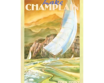 Lake Champlain Vermont Travel Poster