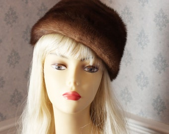 Vintage Jay Lennad Brown Fur Hat