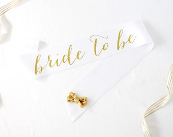 Bride to Be Sash in Font #1 - Bachelorette Sash - Bachelorette Party - Bride Gift - Bridal Sash - Bridal Shower - Personalized Bridal Sash