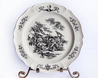 Wedgwood Collectors Plate ~ 1976 200th United States Anniversary Commemorative Plate ~ Massachusetts the 6th State ~ Battle of Bunker's Hill