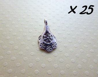 Set of 25 charms Cup silver 11 x 18 mm - L25628