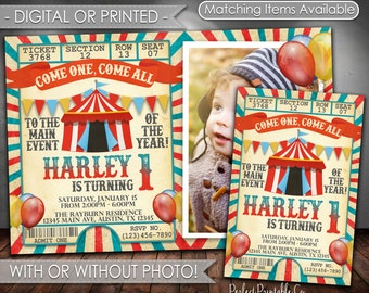Carnival Invitation, Carnival Birthday Invitation, Circus Invitation, Circus Birthday Invitation, Carnival Party, Circus Party, #553