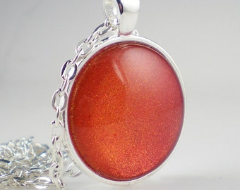 Coral Orange Nail Polish Necklace Fiery the Angels Fell Indigo Bananas Duo Chrome Nail Polish Jewelry