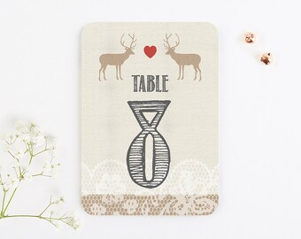 Lace Stag Table Number