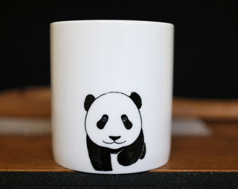 Hand painted animal mug cup - Cute mug cup - Panda Bear mug cup 2