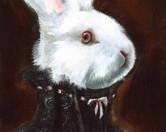 sombre, gothique, halloween décoration - Hattie albinos - White Rabbit Art
