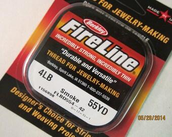 FireLine Beading Thread, 4 lb, Smoke - Available on 55 yard Spools