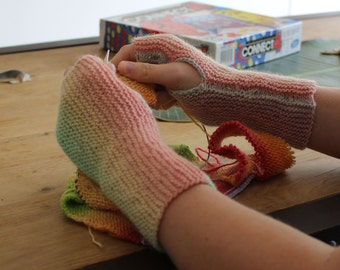 Color Shift Fingerless Mitts