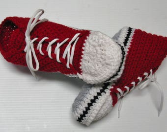 PATRON PDF no 21 Pantoufles espadrilles hautes au crochet adultes, français, anglais, par 3petitesmailles, chaussons