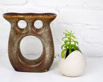 Mirostowice Pottery Candle Holder Brown