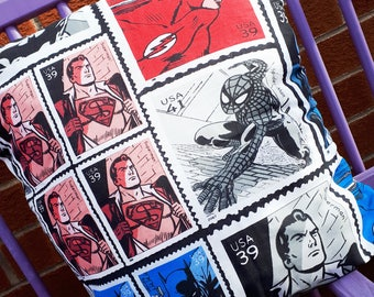 Dc comics cushion, flash, spiderman, marvel, batman, character cushion cover, pillow cover comic book, super hero