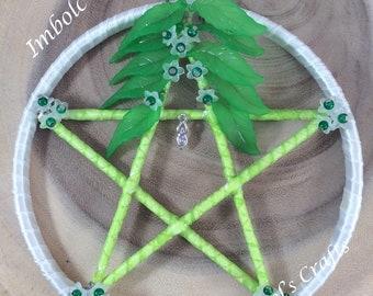 Pentagram, Imbolc, Altar tools, Wall hanging, Sabbat, Pagan tool, Pagan gift, Spring Equinox, Pagan, Witchcraft, Wiccan items.