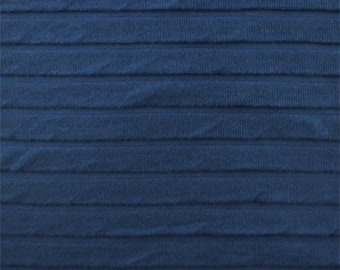 Blue Pleated Knit, Fabric By The Yard