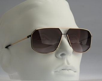 Silhouette M 7098, Vintage aviator sunglasses, 80s rare and unique / NOS