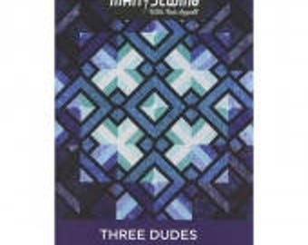 Man Sewing Three Dudes Quilt Pattern by Rob Appell for MSQC