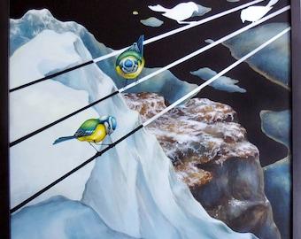 """Original art  """"A message of distress (Rørviknipa)"""""""