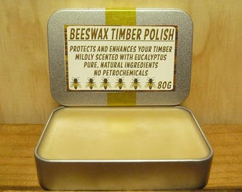 BEESWAX TIMBER POLISH - 80g - Pure & Natural - No Petrochemicals!