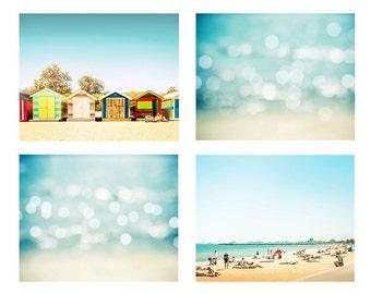 beach prints photography set 5x7 8x10 photography decor beach nursery beach artwork photography abstract coastal beach decor house aqua red