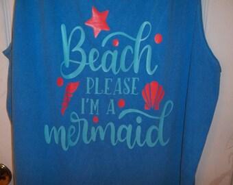 Personalized Beach shirts - mermaid - sailor - anchor - monogrammed