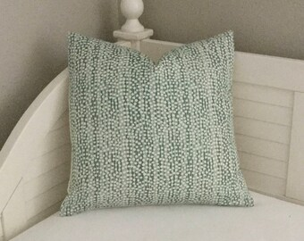Quadrille China Seas Mojave Teal Designer Pillow Cover - Square and Lumbar Pillow Cover Sizes