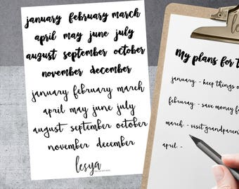 Bullet Journaling Supplies - Monthly