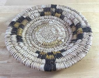 Indian Basket, Native Basket, Tribal Basket, Indian Tray, American Basket, Coiled Basket, Straw Basket, Fiber Basket, FREE SHIPPING!!!!