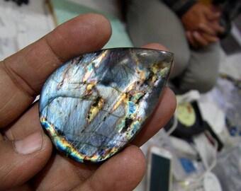 1 Labradorite spectrolite Cabochon . 31.5,  grams 8X41X59 MM