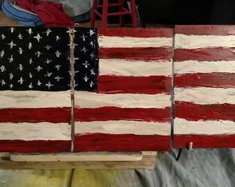 3 piece American flag