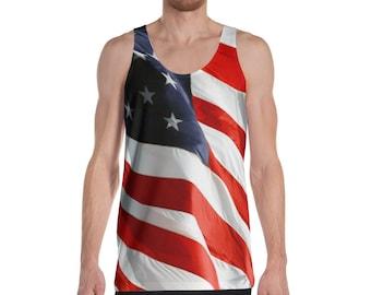 America Flag Tank Top