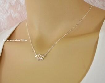lotus necklace, leaf necklace, origami necklace, lotus flower necklace, flower necklace, silver lotus necklace, gold lotus necklace, lotus