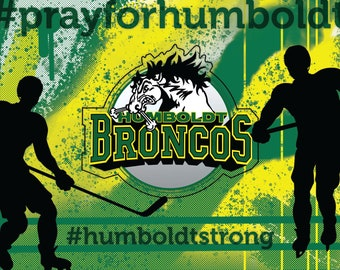 Postcard For Humboldt Broncos - All Proceeds Donated to the Humboldt Broncos Team