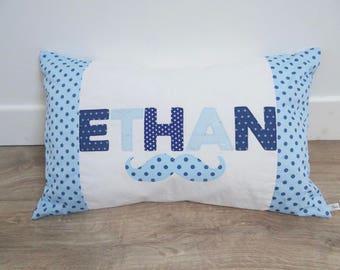 Pillow name Blue polka dots
