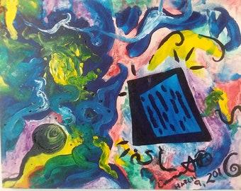 """Mixed Media Painting """"Reality"""""""