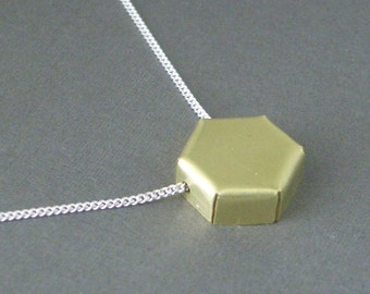 Hexagon Honey Necklace