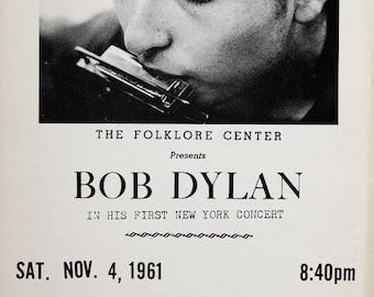 Bob Dylan 1961 first ever concert   Concert POSTER     Carnegie Hall  beautiful!!!!