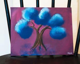 Blue Pom Pom Tree