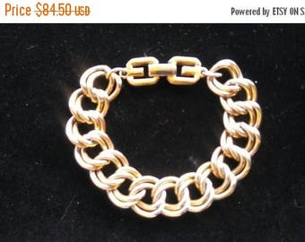 ON SALE Vintage Givenchy Bracelet, Haute Couture Chunky Wide Designer Signed Jewelry