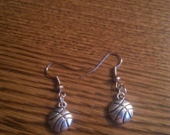 Basketball Earrings with stainless steel french hooks