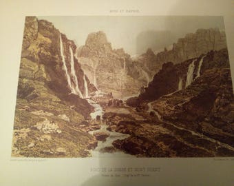 """Lithograph """"Bottom of the Valley and mountain Ruant"""" Nice collection and Savoy"""