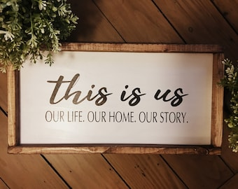 This Is Us Wood Sign Custom Rustic Decor Unique